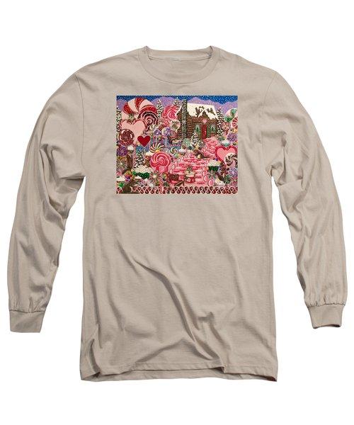 Ms. Elizabeth Peppermint World Long Sleeve T-Shirt by Jennifer Lake