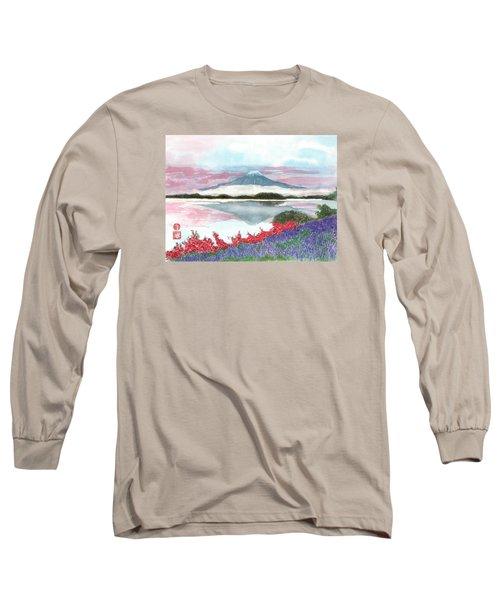 Mt. Fuji Morning Long Sleeve T-Shirt