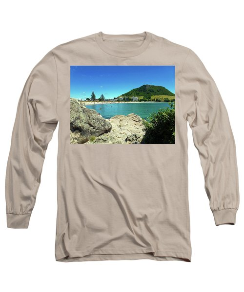 Mt Maunganui Beach 13 - Tauranga New Zealand Long Sleeve T-Shirt