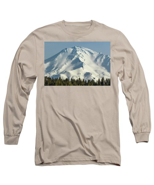 Long Sleeve T-Shirt featuring the photograph Mt Shasta In Early Morning Light by Marc Crumpler