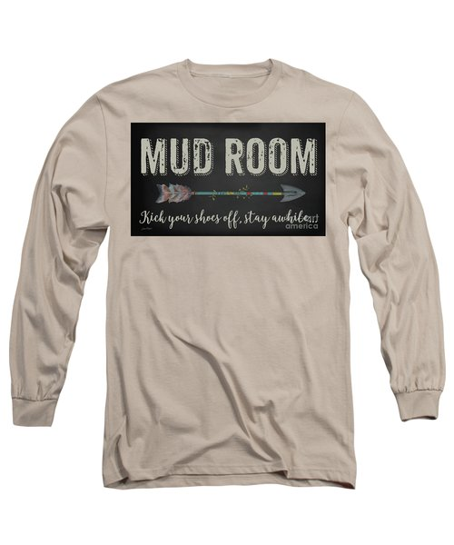 Long Sleeve T-Shirt featuring the digital art Mud Room-b by Jean Plout