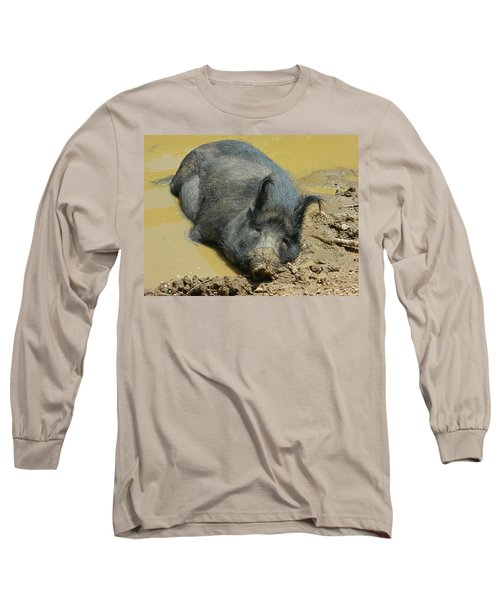 Mud Spa Long Sleeve T-Shirt by Emmy Marie Vickers