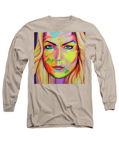 Mujer Long Sleeve T-Shirt by Angel Ortiz