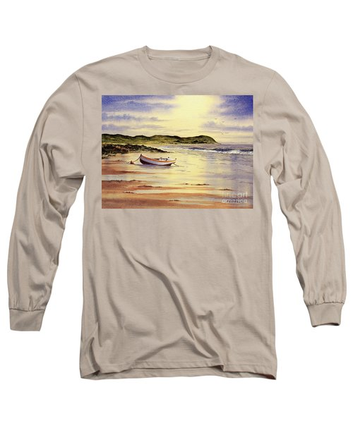 Long Sleeve T-Shirt featuring the painting Mull Of Kintyre Scotland by Bill Holkham