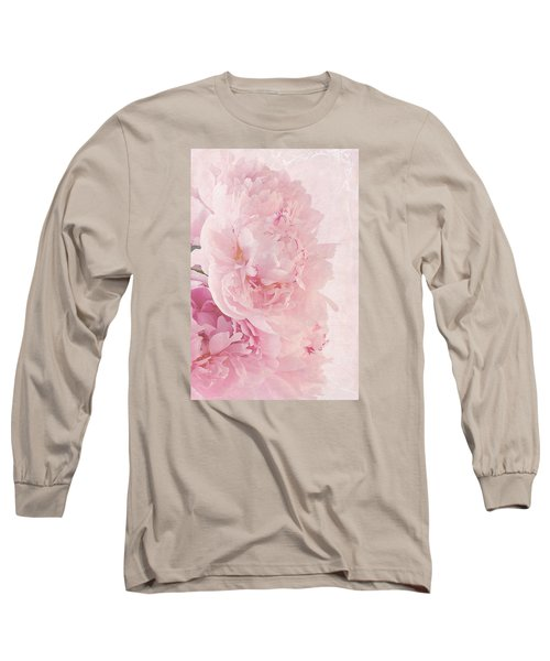Artsy Pink Peonies Long Sleeve T-Shirt by Sandra Foster
