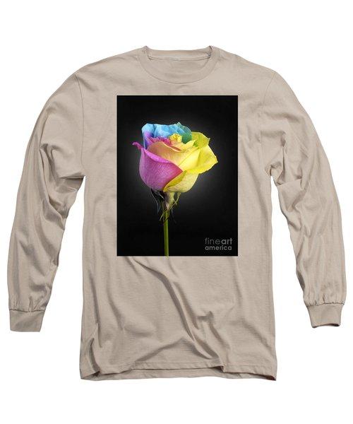 Rainbow Rose 1 Long Sleeve T-Shirt
