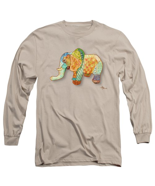 Multicolor Elephant Long Sleeve T-Shirt