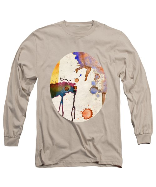 Multicolor Splash Long Sleeve T-Shirt