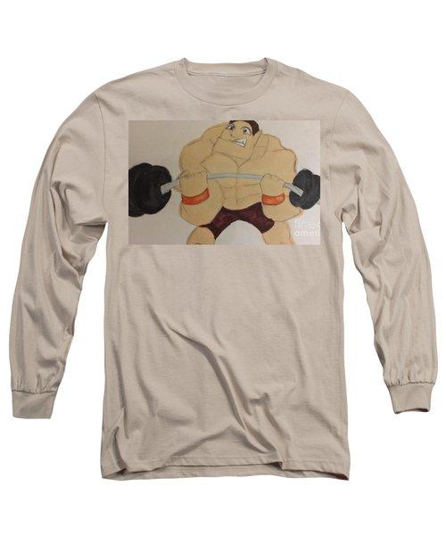 Muscular Man Long Sleeve T-Shirt
