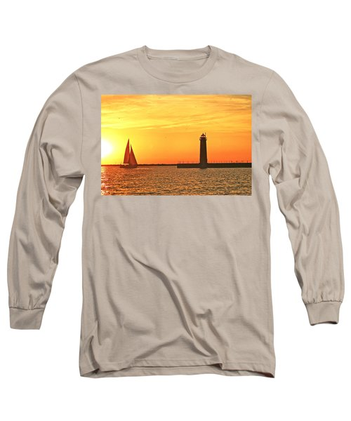 Muskegon Sunset Long Sleeve T-Shirt