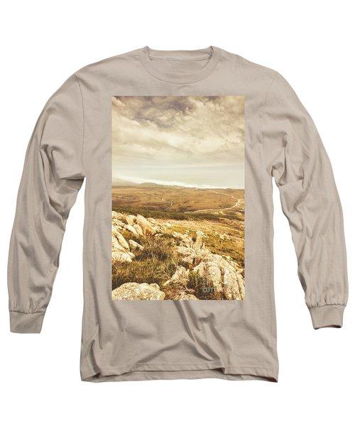 Muted Mountain Views Long Sleeve T-Shirt