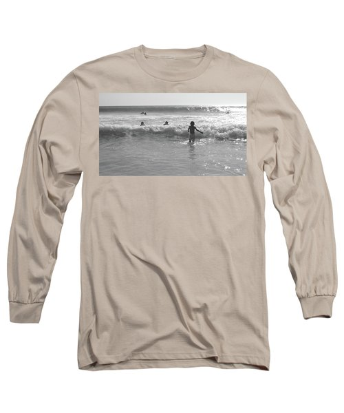 My Fist Time In The Sea Long Sleeve T-Shirt by Beto Machado