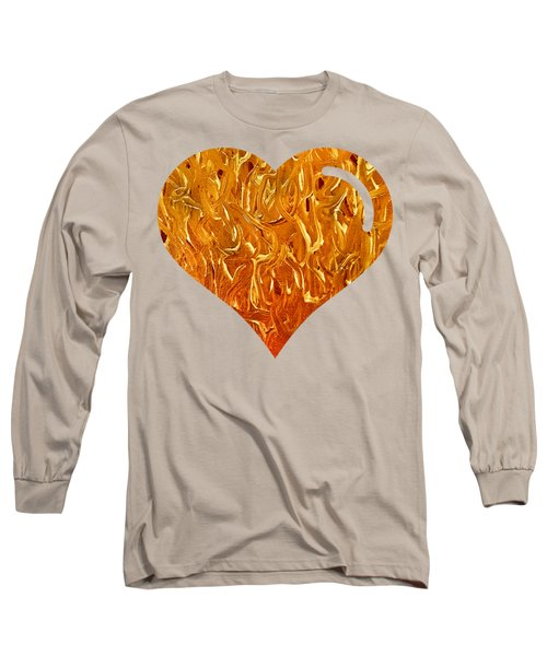 My Heart Is On Fire Long Sleeve T-Shirt