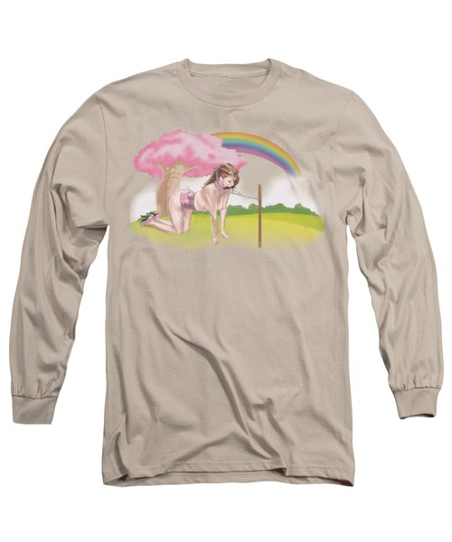 Long Sleeve T-Shirt featuring the mixed media My Little Pony by TortureLord Art