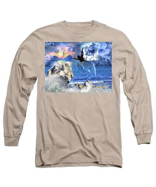 Long Sleeve T-Shirt featuring the digital art My Savior by Dolores Develde