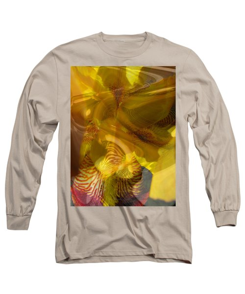 My Wild Iris Abstract - Photography  Long Sleeve T-Shirt