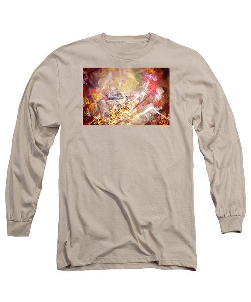 Myrtle Warbler Five Long Sleeve T-Shirt by Suzanne Handel