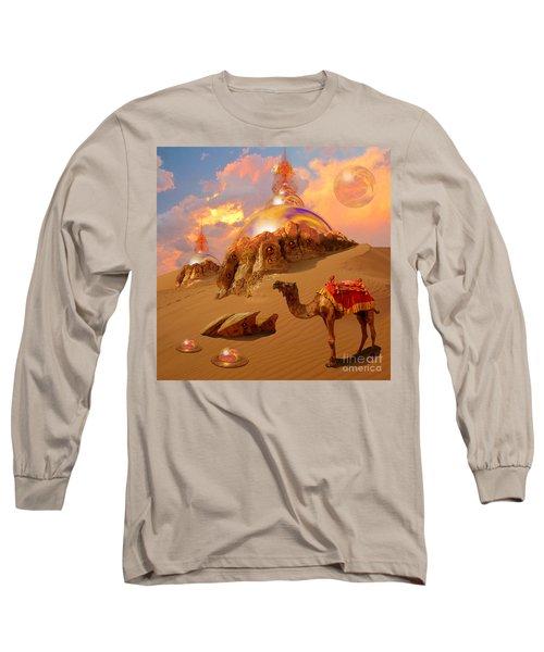 Long Sleeve T-Shirt featuring the digital art Mystic Desert by Alexa Szlavics