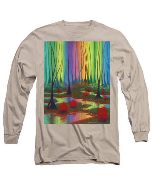 Mystic Marsh 01 Panel B Long Sleeve T-Shirt