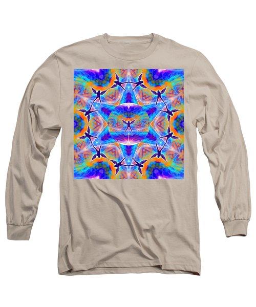 Long Sleeve T-Shirt featuring the digital art Mystic Universe Kk 15 by Derek Gedney