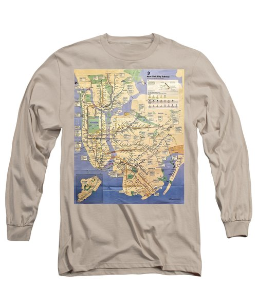 N Y C Subway Map Long Sleeve T-Shirt