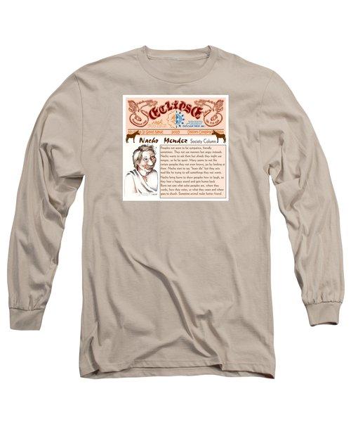 Real Fake News Society Column 2 Long Sleeve T-Shirt