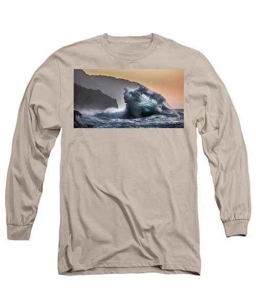 Napali Coast Hawaii Wave Explosion IIi Long Sleeve T-Shirt
