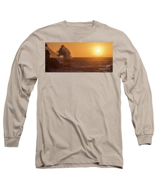Napali Coast Kauai Hawaii Wave Explosion Iv Long Sleeve T-Shirt