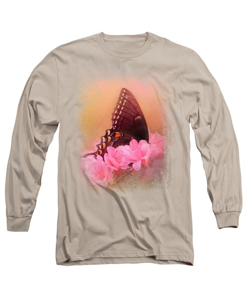 Napping In The Azaleas Long Sleeve T-Shirt