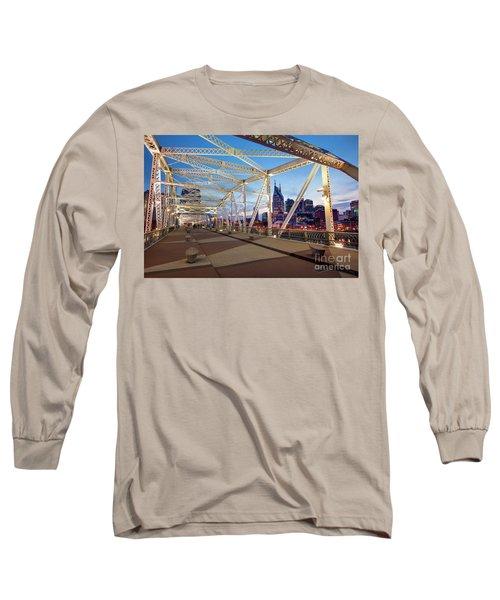 Long Sleeve T-Shirt featuring the photograph Nashville Bridge II by Brian Jannsen