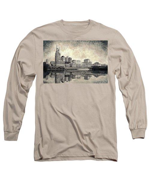 Nashville Skyline II Long Sleeve T-Shirt by Janet King