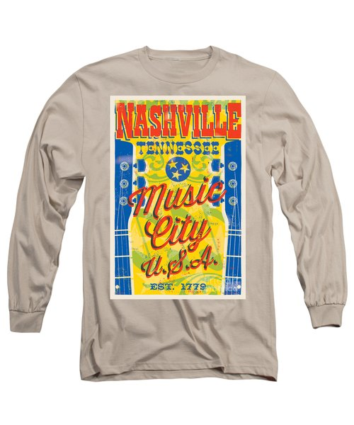Nashville Tennessee Poster Long Sleeve T-Shirt