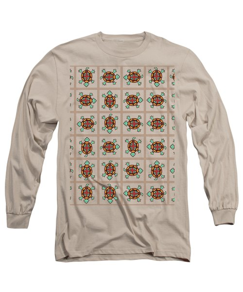 Native American Pattern Long Sleeve T-Shirt