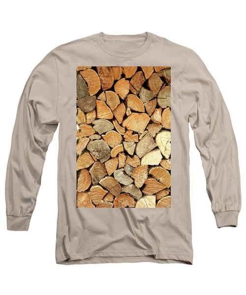 Natural Wood Long Sleeve T-Shirt by AugenWerk Susann Serfezi