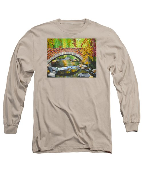 Long Sleeve T-Shirt featuring the painting Natures Eye by Donna Blossom