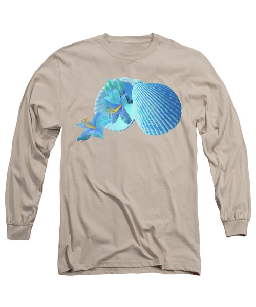 Nature's Gems In A Blue Mood Long Sleeve T-Shirt