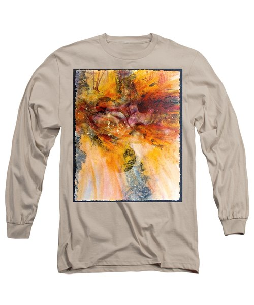 Naturescape In Red Long Sleeve T-Shirt by Carolyn Rosenberger
