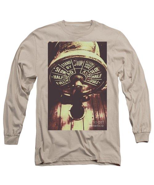 Nautical Engine Room Telegraph Long Sleeve T-Shirt