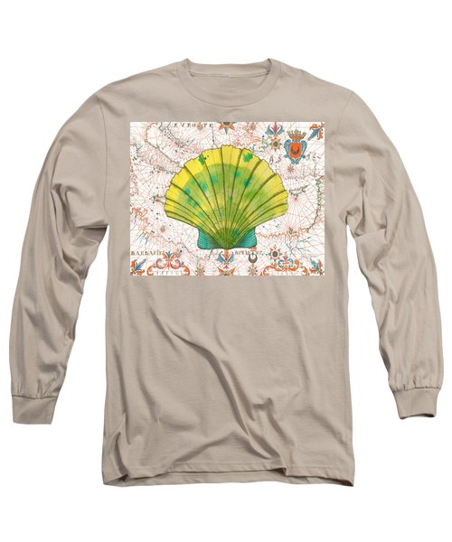 Long Sleeve T-Shirt featuring the painting Nautical Treasures-d by Jean Plout