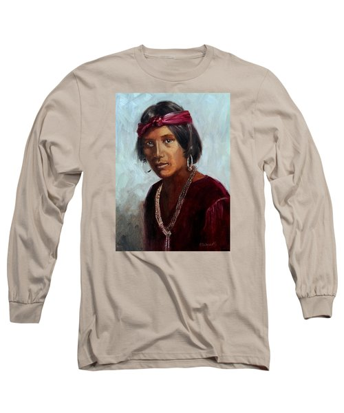 Navajo Youth Long Sleeve T-Shirt by Connie Schaertl