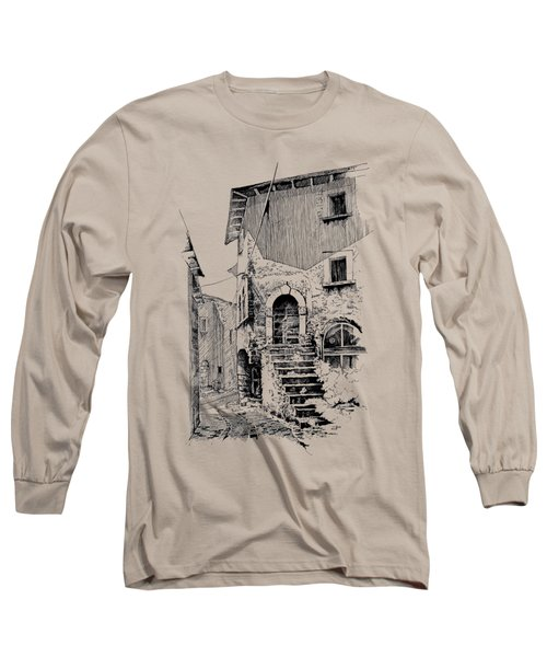 Navelli Dip Pen Sketch  Long Sleeve T-Shirt