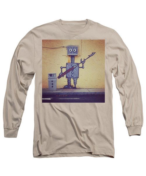 Street Art Robot Long Sleeve T-Shirt