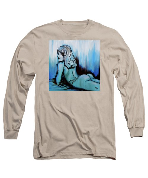 Nearly Naked Blue Ombre' Long Sleeve T-Shirt