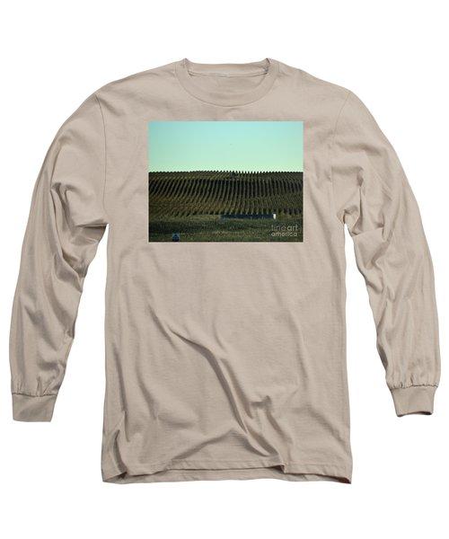 Long Sleeve T-Shirt featuring the photograph Nebraska Corn Rows by Mark McReynolds