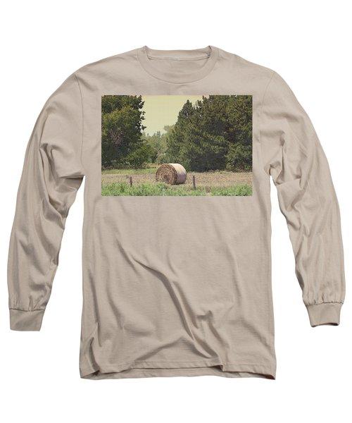 Nebraska Farm Life - Hay Bail Long Sleeve T-Shirt