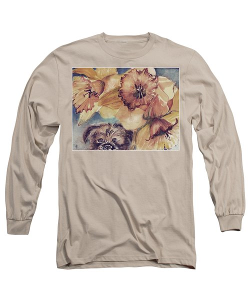 Long Sleeve T-Shirt featuring the painting Nellie Mae by Mindy Newman
