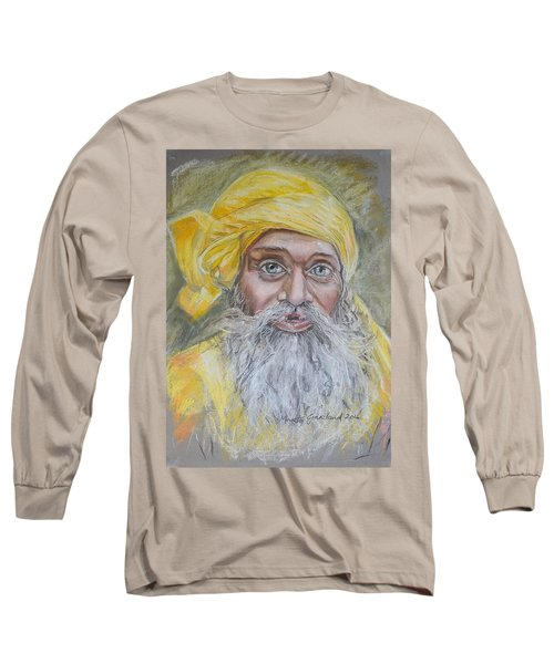 Nepal Man 6 Long Sleeve T-Shirt by Marty Garland