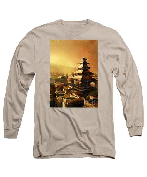 Nepal Temple Long Sleeve T-Shirt