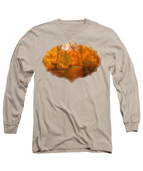 New England Autumn In The Woods Long Sleeve T-Shirt by Becky Herrera