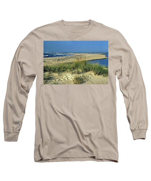 Long Sleeve T-Shirt featuring the photograph New Jersey Inlet  by Sally Weigand